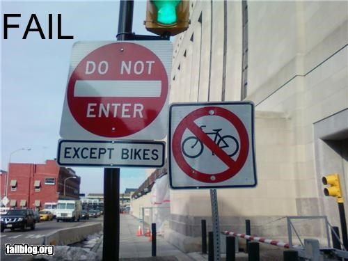 bikes confusing failboat g rated signs traffic - 4376129024