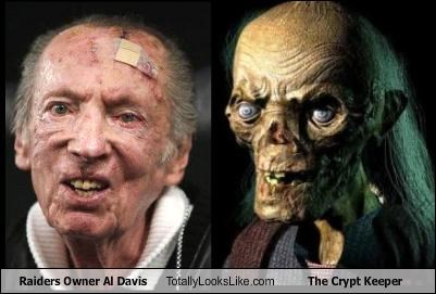 al davis crypt keeper football raiders sports