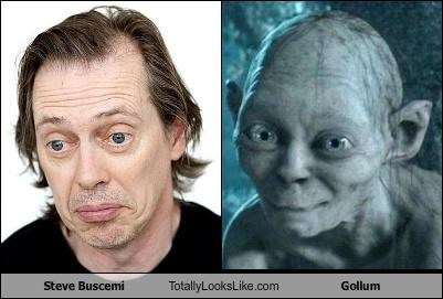 actor cgi gollum Lord of the Rings steve buscemi