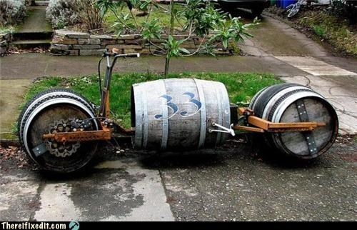 beer motorcycle woody wtf