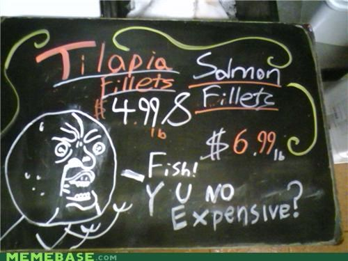 chalkboard,cheap,fish,salmon,The Internet IRL,tilapia