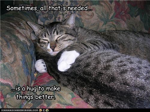 Sometimes, all that's needed... ...is a hug to make things better.