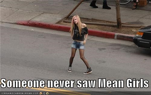 avril lavigne,celeb,funny,mean girls,Music