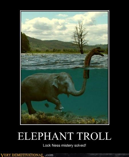 elephant,good idea,loch ness monster,troll
