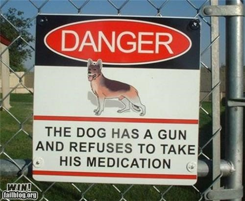 clever cute danger drugs guns signs - 4378373120