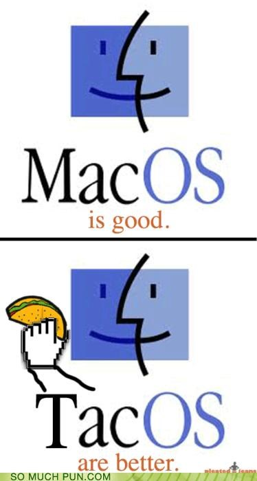 comparison computer food mac mac os noms operating system OS similar sounding tacos - 4378633984