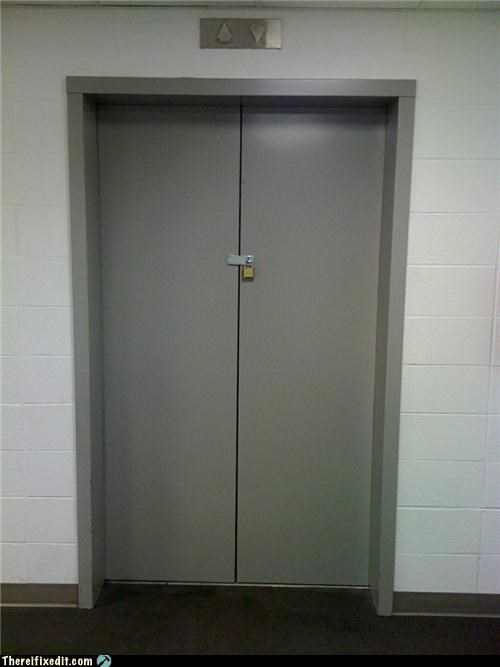 elevator,locked up,security
