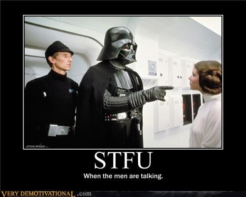 darth vader,Princess Leia,star wars,stfu