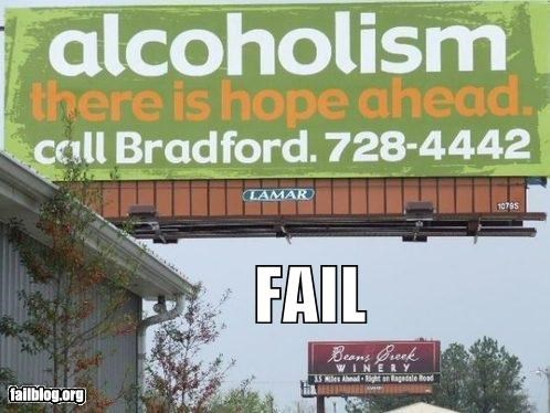 billboards drunk failboat g rated juxtaposition signs wine - 4378996480