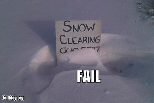 Snow Sign FAIL