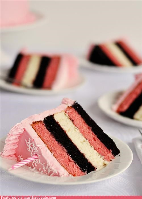 cake epicute frosting ice cream layers neapolitan pink - 4379070720