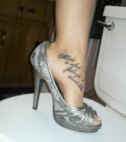 Music feet tattoos funny - 4379217408
