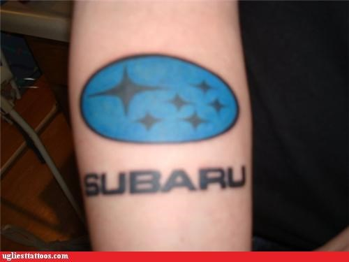subaru brands tattoos funny