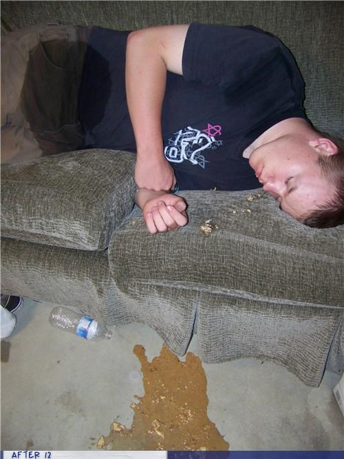 passed out piss puke vomit - 4380542720