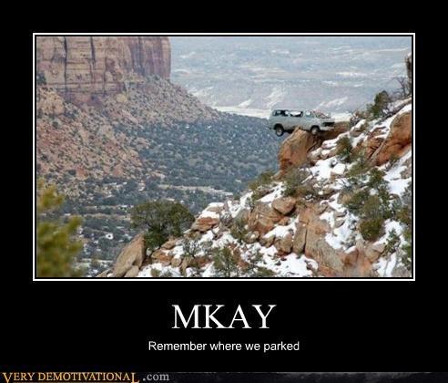 car parked mkay idiots - 4380735744