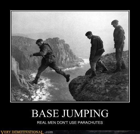 awesome,real men,base jumping