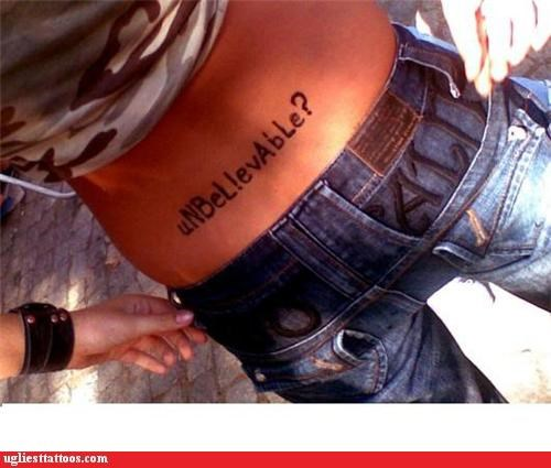 tramp stamps,words