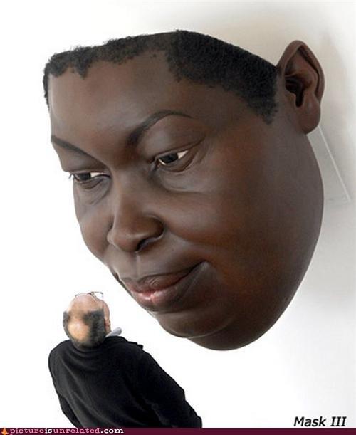 art giant head mask wtf - 4382184704