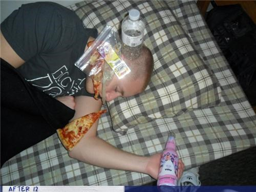 condom drunk passed out pizza - 4383272448
