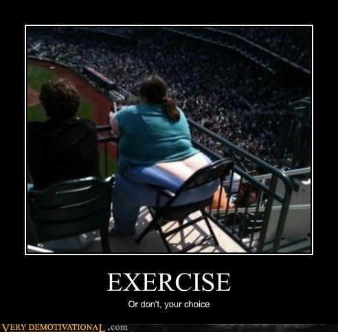 choice,exercise,fat jokes