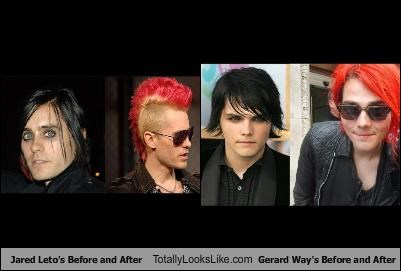actors Before And After gerard way jared leto musicians - 4384165120