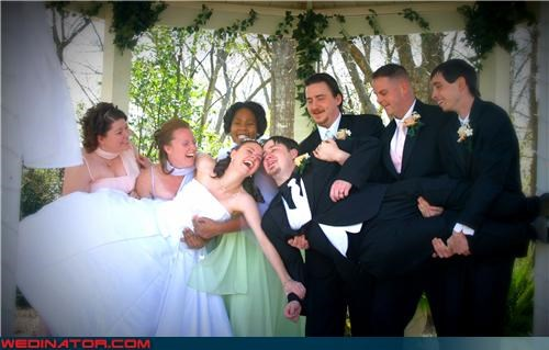 awkward wedding photos,bride,bride and groom headbutt,Crazy Brides,crazy groom,fashion is my passion,funny bride picture,funny bridesmaids picture,funny groom picture,funny groomsmen picture,funny wedding party picture,funny wedding photos,grabby,groom,miscellaneous-oops,technical difficulties,two become one,were-in-love,wedding party,whoops