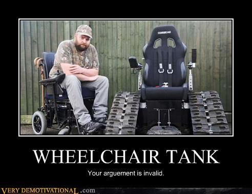 argument is invalid tank wheelchair