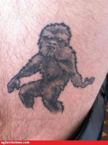 big foot bad funny tattoos - 4385163008