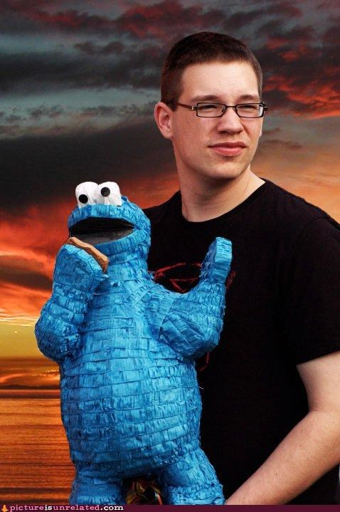 awesome Cookie Monster dude space wtf