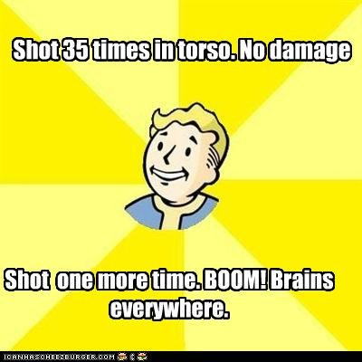 fallout headshot Memes vault boy video games - 4385300480