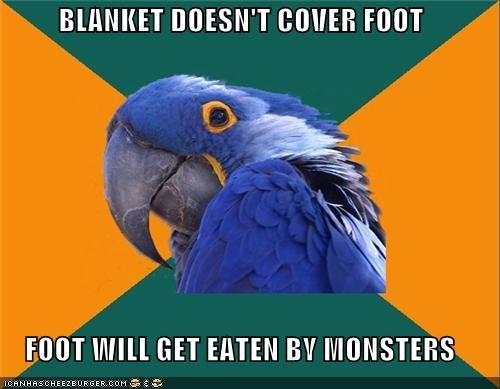 blanket foot monster Paranoid Parrot unprotected - 4385402112