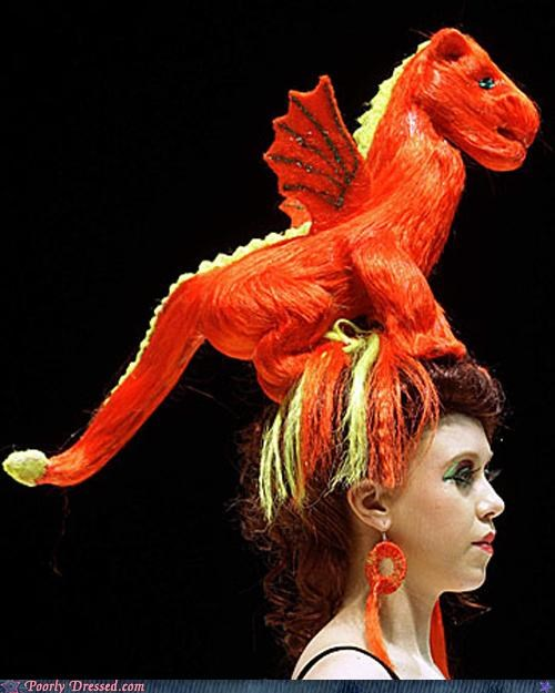 awesome crazy dragon fashion hair - 4385525248