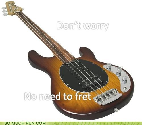 bass,dont,double meaning,fret,fretless,frets,guitar,worry