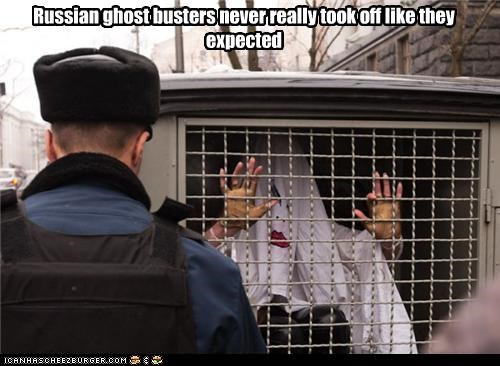 Ghostbusters,jail,paddy wagon,police,prisoner,russia,russian