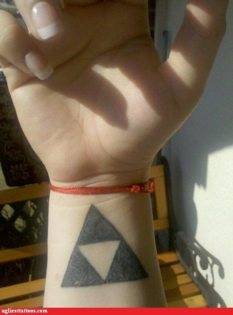 bad,legend of zelda,funny,tattoos,triforce