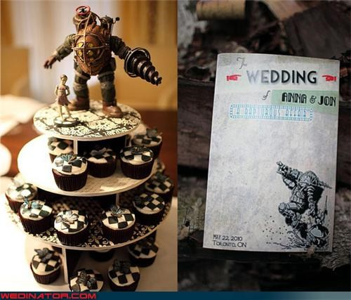 awesome wedding cupcakes Bioshock wedding cupcakes bride Dreamcake edible Morpho butterflies funny wedding photos gamer themed wedding cupcakes groom themed wedding cupcakes video game themed cupcakes were-in-love wedding cupcakes Wedding Themes - 4386167040