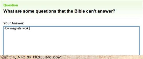 answers lance magnets religion the bible Yahoo Answer Fails - 4386477824