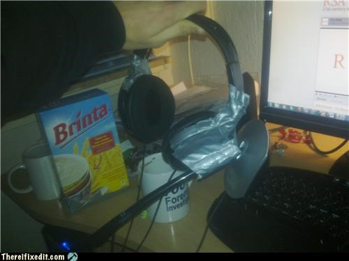 computer duct tape headphones headset - 4386583808