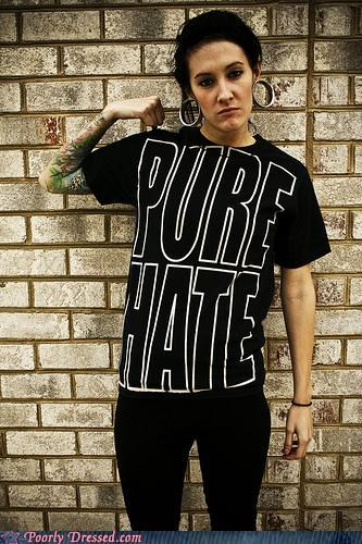 gauges hate piercings plugs shirt tattoos - 4386689536