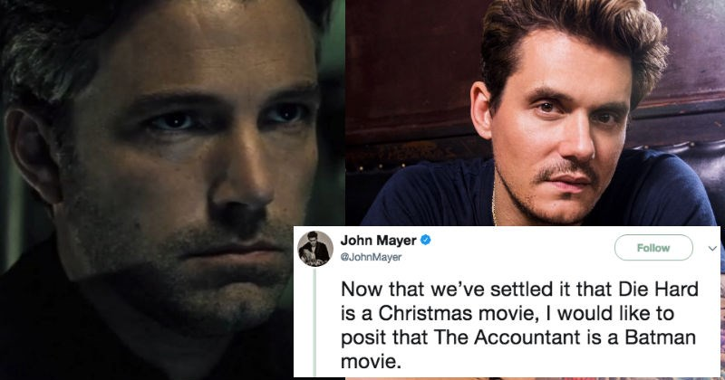 John Mayer tweets out a ridiculous theory on Twitter about Batman.