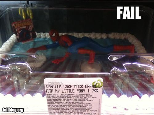 cake,description,failboat,g rated,my little pony,Spider-Man