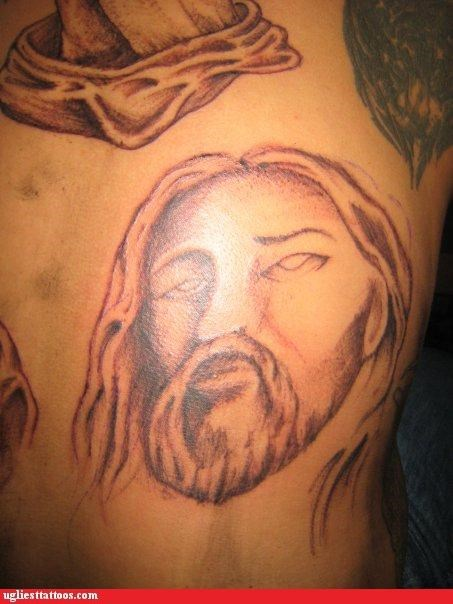 eyes,funny,jesus,tattoos