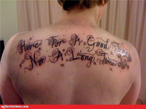 bad funny tattoos text - 4387485440