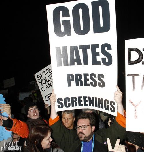 celeb,kevin smith,movies,Protest