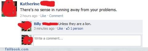 animals,burn,lions,logic,troubles