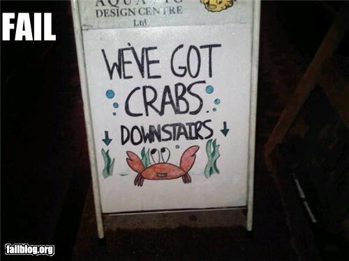 crabs failboat innuendo seafood shops signs - 4388152064