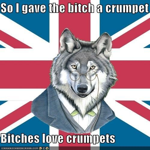 animemes,crumpets,gentleman,sir-courage-wolf-esq
