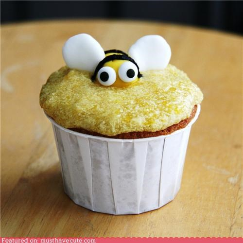 bee cupcake epicute funny honey - 4388466944