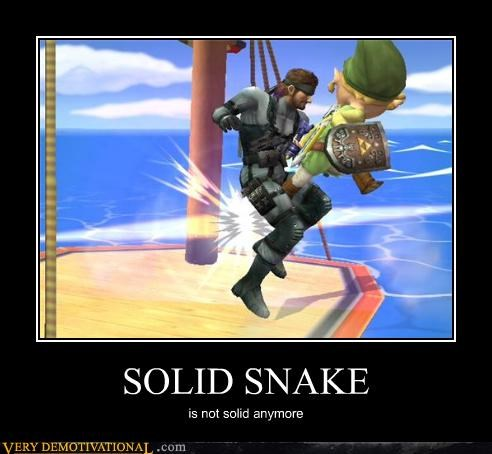 SOLID SNAKE is not solid anymore