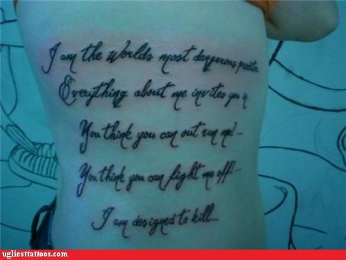 funny warning wtf tattoos text - 4388672256